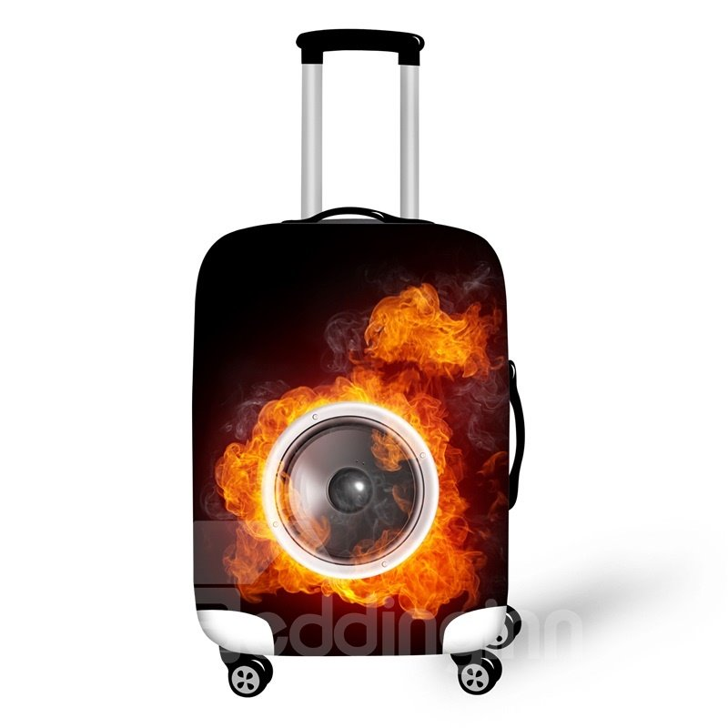 """Fire Eyes Waterproof Cool Fashion 3D Print Travel Luggage Cover Suitcase Protector 19"""" 20"""" 21"""""""
