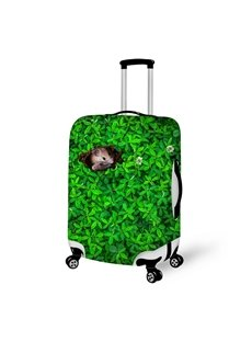 Mouse Hide in the Grass Anti-Scratch 3D Pattern Waterproof Protector Luggage Cover