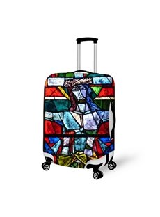 Jesus Abstract 3D Oil Painting Pattern Travel Luggage Suitcase Spandex Cover