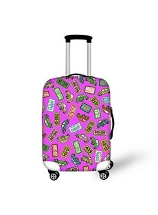 Car Number Plate Pattern Washable Waterproof Travel Zipper Nylon 3D Luggage Cover