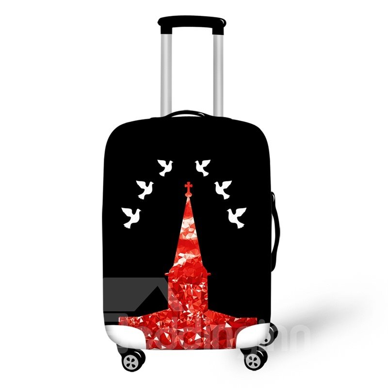 """Dove Cute Animal Architecture 3D Pattern Waterproof Protector Luggage Cover for 20"""" 24"""" 28"""""""