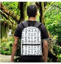 Washable Different Emoji 3D Pattern Lightweight School Outdoor Backpack