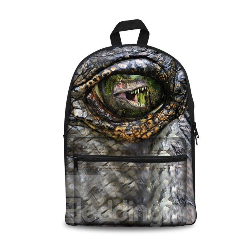 Washable Dinosaur 3D Eyes Lightweight School Outdoor Backpack