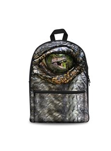 Washable Dinosaur 3D Eyes Lightweight School Outdoor Backpack