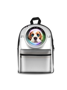 3D Pattern Dog in Camera School Outdoor for Man&Woman Backpack