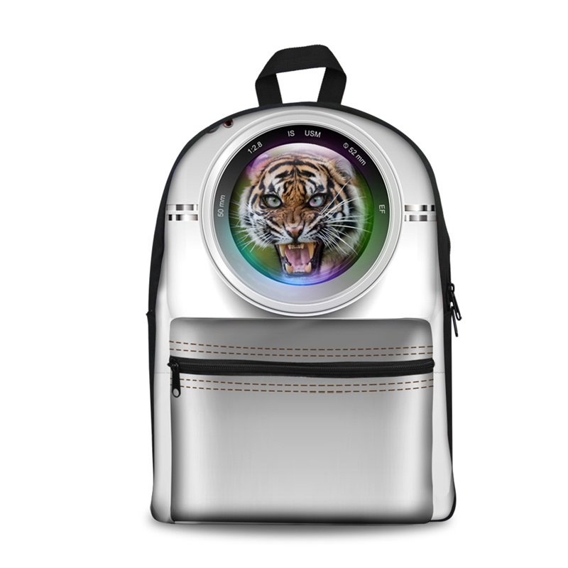 Camera Tiger Style 3D Pattern School Outdoor for Man&Woman Backpack