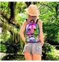 3D Vivid Colorful Lion Eyes School Backpack for Boys Girls Fashion Durable Book Bag