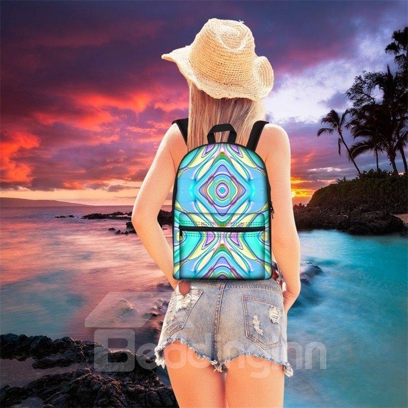 Show Personality Exotic Style 3D Pattern School for Man&Woman Backpack