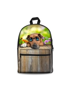New 3D Animals Adorable Dog Print Backpack School Bags Cool Casual Laptop Packs