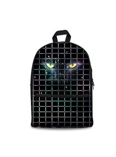 3D Vivid Cool Wolf Eyes School Backpack for Boys Girls Fashion Durable Book Bag