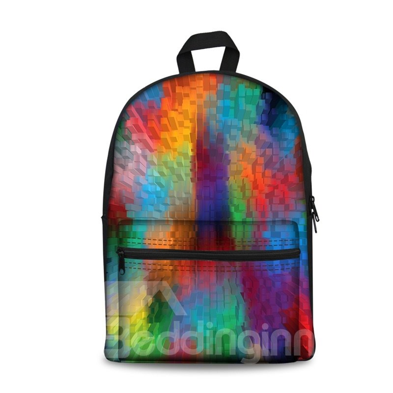 Show Personality Style 3D Colorful Column Pattern School for Man&Woman Backpack