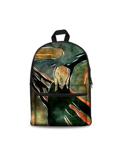 Artwork 'The Scream' by Edvard Munch Pattern School Outdoor for Man&Woman Backpack