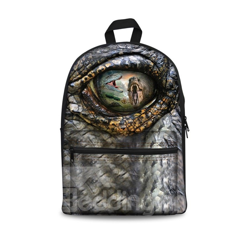 Show Personality Style 3D Dinosaur Eyes Pattern School for Man&Woman Backpack