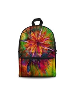 3D Cool Style Abstract Flowers Art Pattern Washable Lightweight School Outdoor Backpack