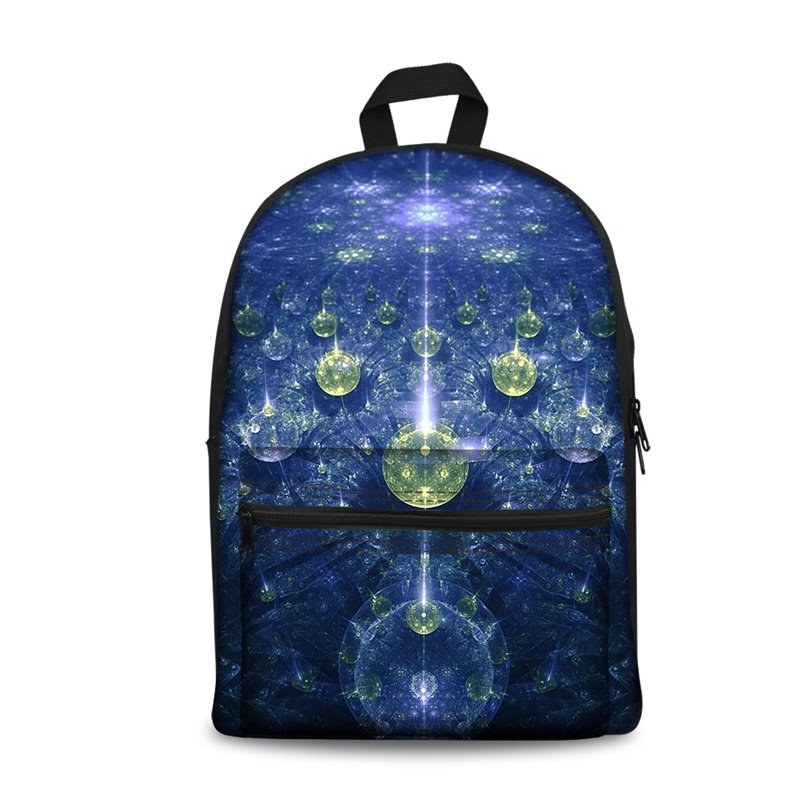 3D Modern Style Abstract Blue Pattern School Backpack for Boys Girls Fashion Durable Book Bag