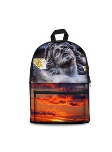 3D Sculptures under the Beautiful Sky Pattern School Outdoor for Man&Woman Backpack