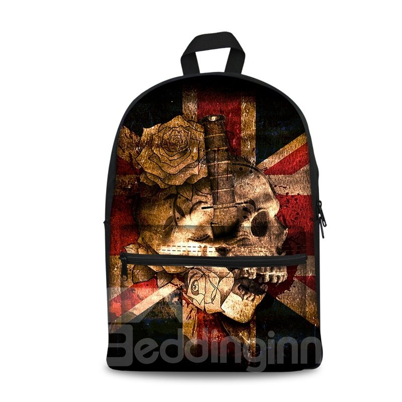 British Flag with Skull 3D Pattern School Outdoor for Man&Woman Backpack
