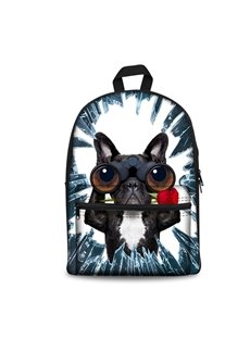 Kids School Backpack For Boys & Girls 3D Bulldogs Face Print Design