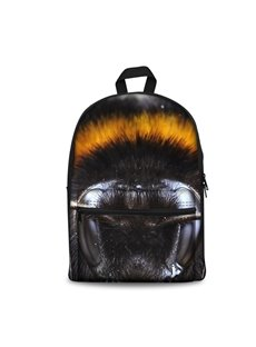 Black and Yellow Furs Pattern Washable Lightweight 3D Printed Backpack