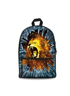 New Fashion 3D Jump Style 2D Drawing From Cartoon Lions Backpack Students School Campus Bags