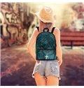 Theology Dark Blue Jesus Pattern Washable Lightweight 3D Printed Backpack