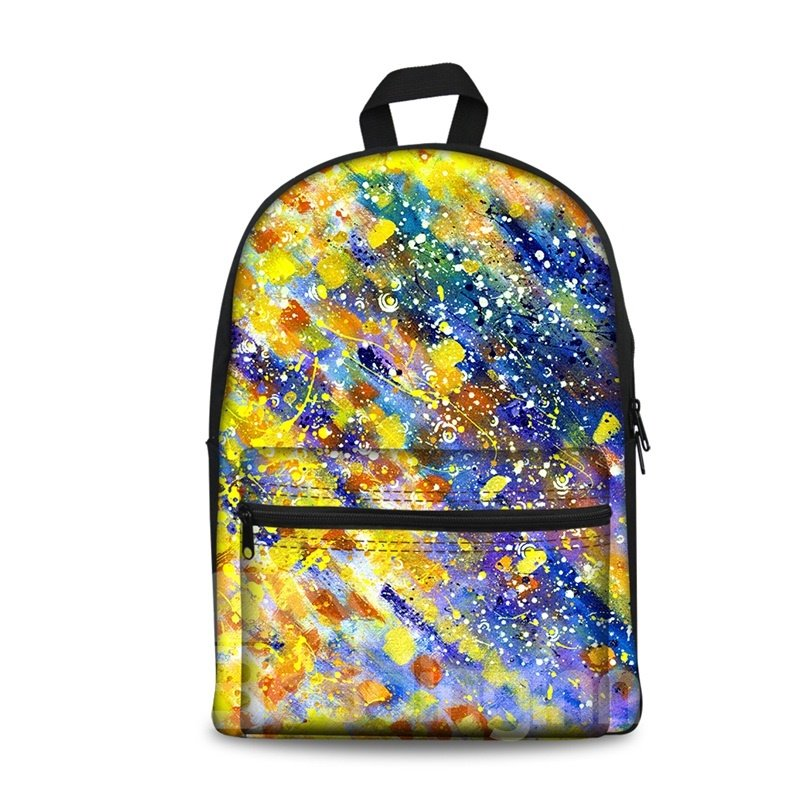 New Fashion 3D Modern Style Oil Painting Backpack Students School Campus Bags