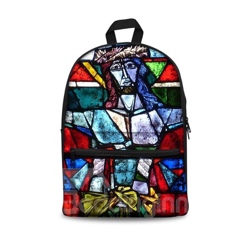 3D Vintage Jesus God Church Pattern School Outdoor for Man&Woman Backpack