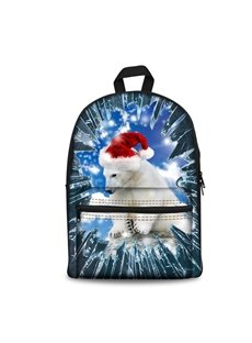 Hot 3D Animals Polar Bear Print Backpack School Bags Cool Casual Laptop Packs