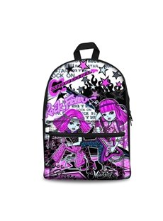 3D Cool Style Purple Colored Teen Girls Pattern School Outdoor Backpack