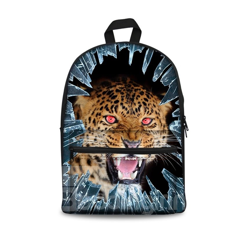 New 3D Animals Leopard Print Washable Backpack School Bags Cool Casual Laptop Packs