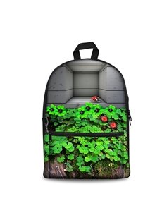 3D Ladybirds and Leaves for Kids School Backpack Boys & Girls School Campus Bags