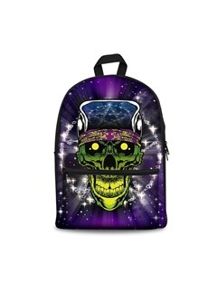 3D Skull Pattern Show Personality Style School for Man&Woman Backpack