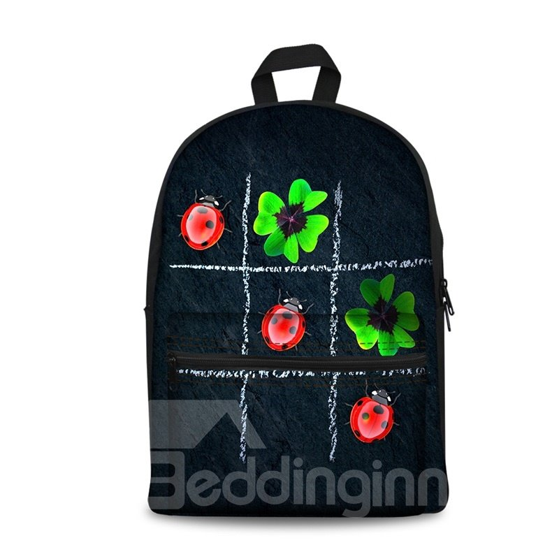 3D Nine Block Box with Leaves and Insects School Outdoor for Man&Woman Backpack
