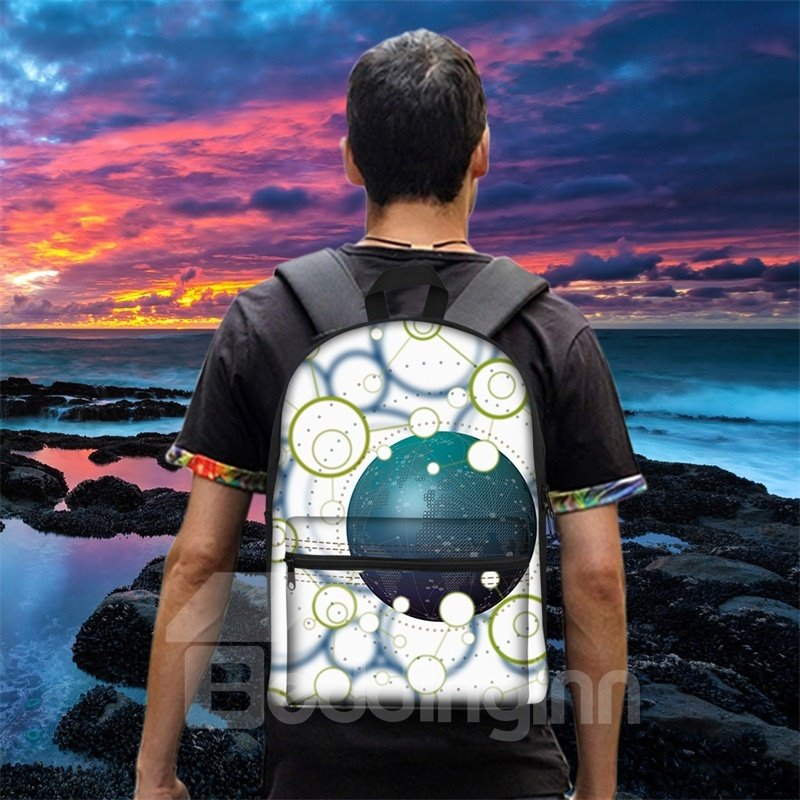 Structure Ball Complex 3D Pattern School Outdoor for Man&Woman Backpack