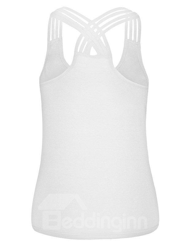 Big Eye 3D Painting Fashion Design Summer Vest Sleeveless Tank Top