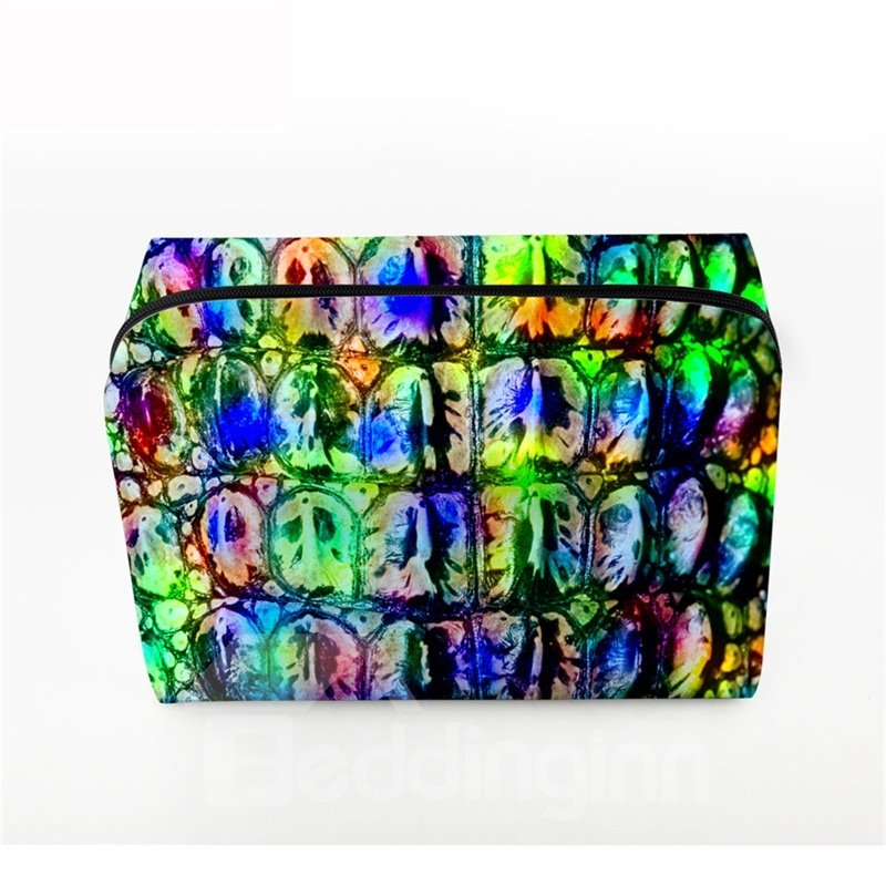 3D Portable Colorful Ghosts Printed PV Cosmetic Bag
