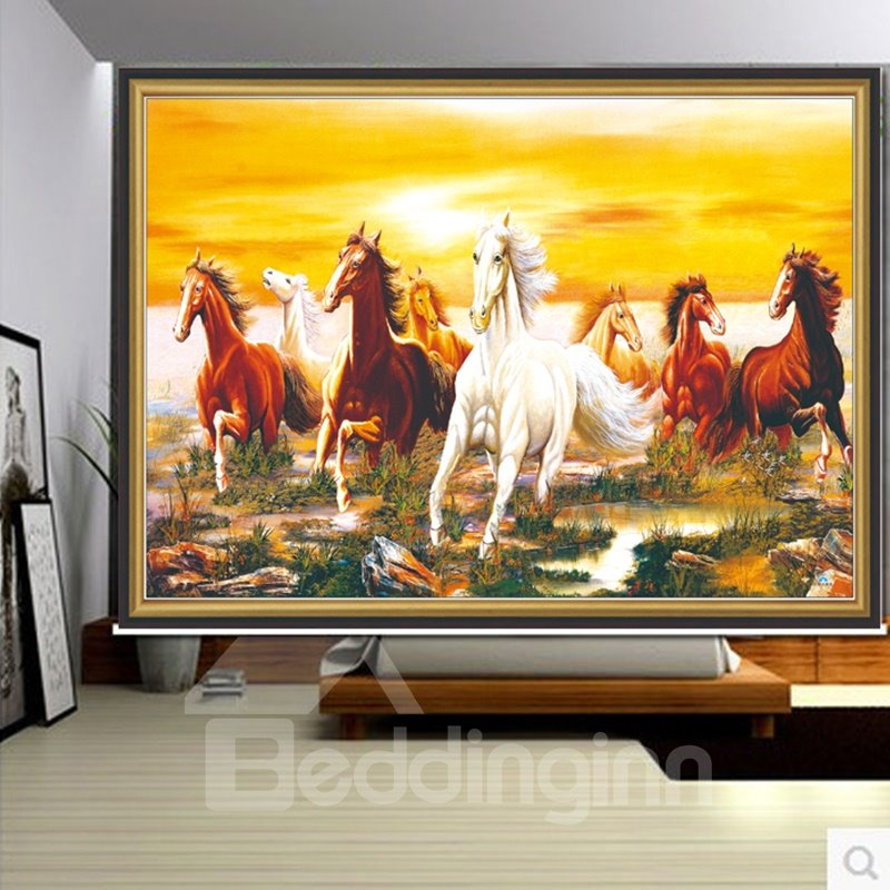 3D Impetuous Horse Printed Animal Style Polyester Water-Proof and Blackout Roller Shades