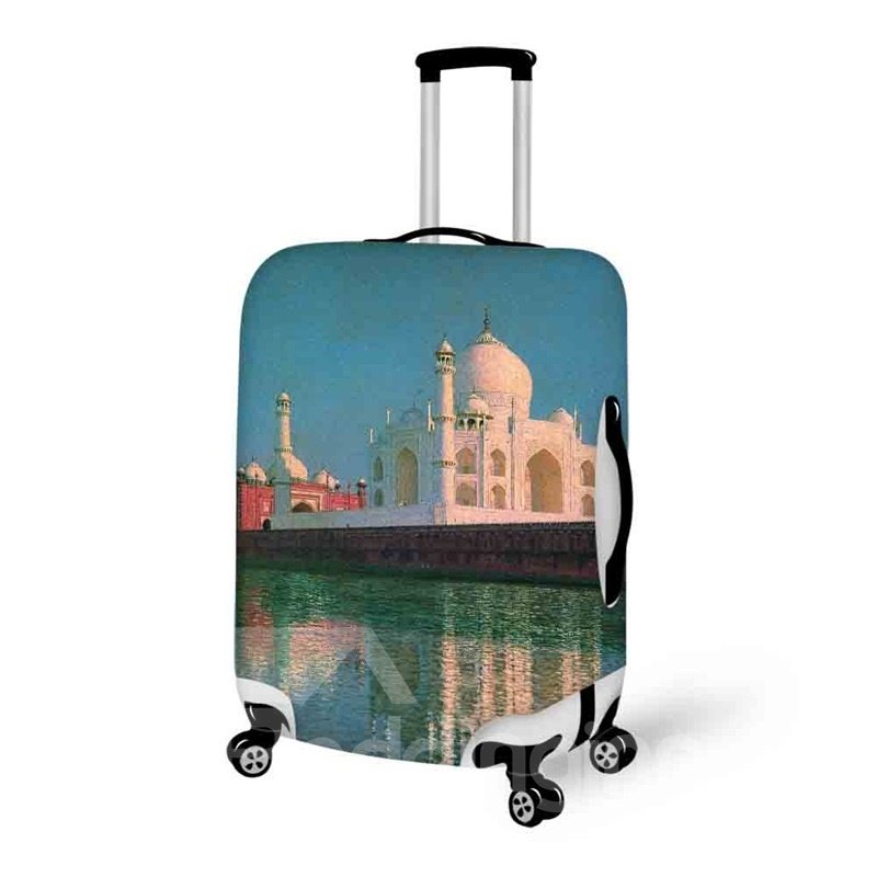 Taj Mahal Indian Style 3D Pattern Spandex Travel Dust proof Luggage Cover