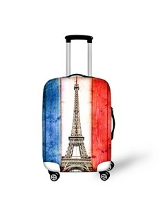 French Flag Eiffel Tower Nation Dust-proof 3D Pattern Fashion Luggage Protector Travel Suitcase Cover Durable