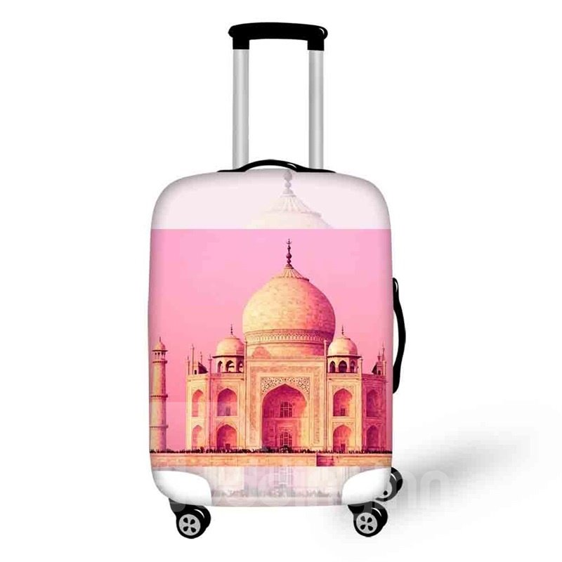 Pink Architecture 3D Pattern Taj Mahal Style Dust proof Luggage Cover 20/22/24/26/28 Inch