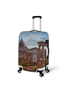 Italy Rome Architecture 3D Retro Pattern Suitcase Protector 19 20 21