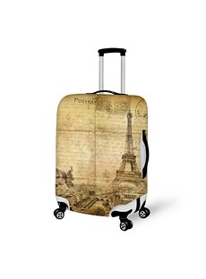 3D Pattern Retro Eiffel Tower Post Waterproof Luggage Cover 20/22/24/26/28 Inch