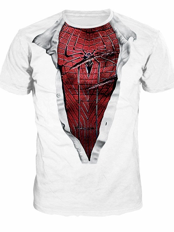 Spiderman Style Pattern Couple Round Neck 3D Painted T-Shirt beddinginn