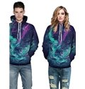 3D Pattern Soft Personalized Myth Wonderland Fantasy Colorful Couple Hoodie