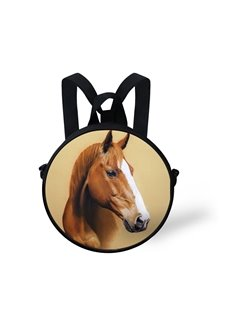 Horse Nose with White Pattern School Bag Shoulders Backpack