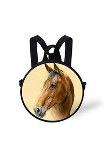 Cool Horse Pattern School Bag Shoulders Backpack