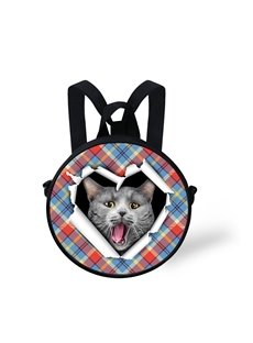 Cat Open Mouth Shock Pattern School Bag Shoulders Backpack