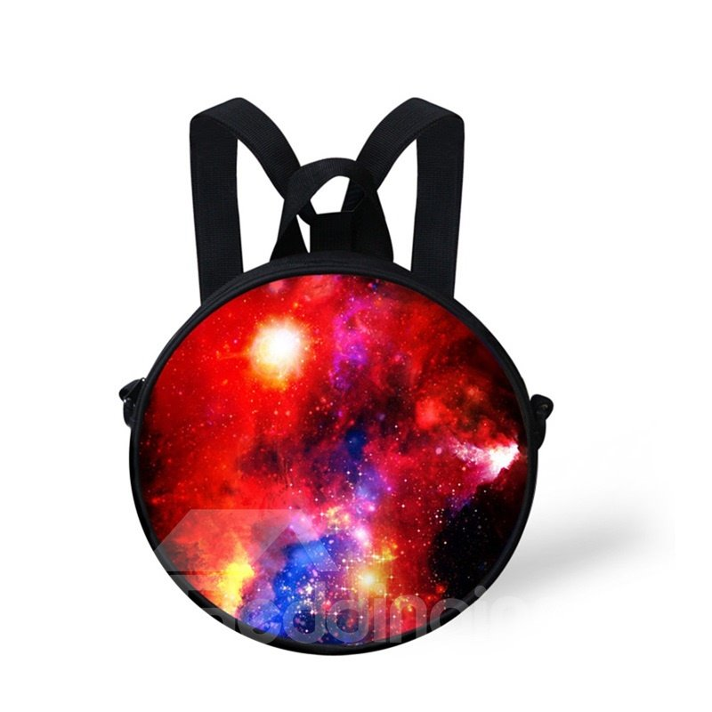 Round 3D Galaxy Pattern School Bag Shoulders Backpack