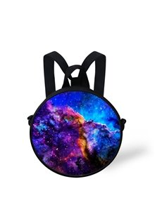 Galaxy Cloud Bird Pattern School Bag Shoulders Backpack