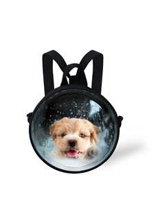 Adorable Dog 3D Pattern Round School Bag Shoulders Backpack